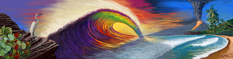 Surf Art : Rainbow Tube by Kem McNair