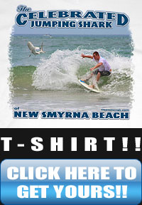 The Celebrated Jumping Shark of New Smyrna Beach T-Shirt!